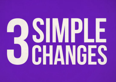 Positive Money – 3 Simple Changes