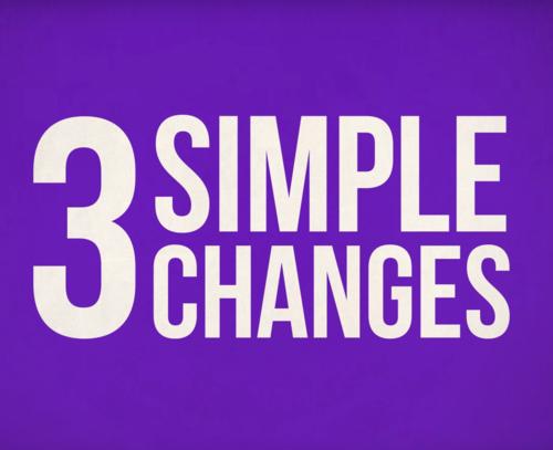 Positive Money – 3 Simple Changes